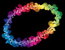 Free Rainbow Ring Of Circles Royalty Free Stock Photos - 14800998