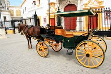 Free Cart And Horse In Seville, Spain Stock Photography - 14801082