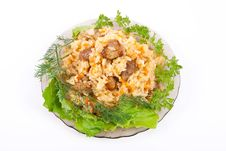 Free Pilaf On Plate Royalty Free Stock Photography - 14801437