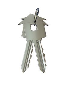 Free Key Over White Background Stock Images - 14802304