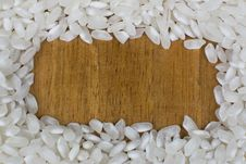 Frame Of Uncooked Rice Royalty Free Stock Photo