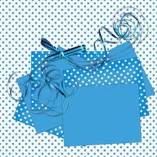 Free Blue Sheets With Bow Polka Dot Background Royalty Free Stock Photo - 14802775
