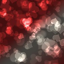Free Card For Design With Blur Bokeh Effect Stock Images - 14802784