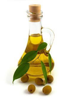 A Bottle Of Oil Stock Photo