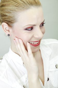 Red Makeup Stock Photography
