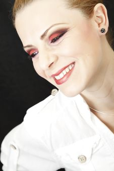 Red Makeup Royalty Free Stock Photography