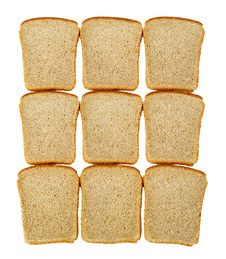 Free Slices Of Bread Isolated Stock Photo - 14804560