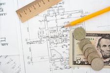 Free Architectural Plans Royalty Free Stock Photos - 14804648