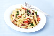 Free Pasta And Bean Salad Royalty Free Stock Photos - 14804788