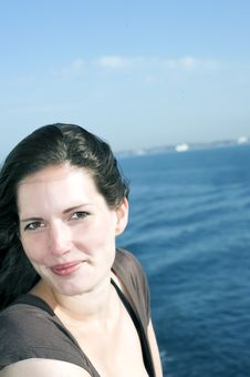Woman On Cruise Ship 2 Royalty Free Stock Photography
