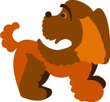 Free Cute Brown Curly Dog,  Illustration Royalty Free Stock Photos - 14805498