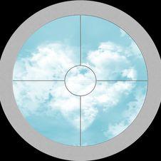 Free View Through The Optics On Sky Stock Photo - 14805850