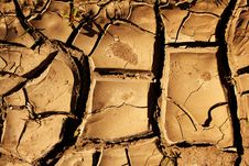 Cracks   Surface   Ground Stock Image