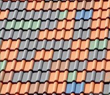 Multi-colored Tiles On The Roof. Stock Photography