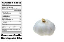 Free Nutritional Facts Of Garlic Stock Image - 14808131