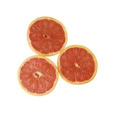 Three Half Oranges Stock Image