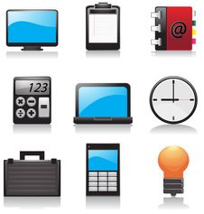 Free Office Icon Royalty Free Stock Photos - 14809048