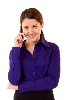 Free Business Woman On Phone Stock Photos - 14809253