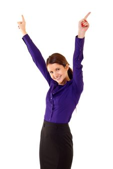 Free Business Woman Winning Stock Photos - 14809293