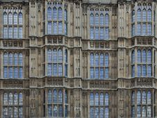 British Parliament Windows Stock Photos