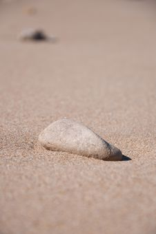 Free Stone On The Sand Stock Photography - 14809512