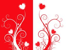 Free Abstract Double Heart Vector Stock Photos - 14809643
