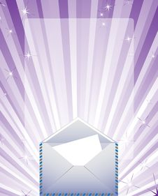 Free Envelope On The Bright Background Royalty Free Stock Image - 14809786