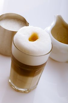 Latte Macchiato Stock Photography