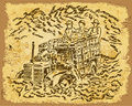 Free Harvesting - Vintage Drawing Stock Image - 14812581