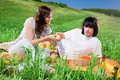 Free Nice Girl With Fruit And Boy Royalty Free Stock Image - 14816196