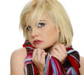 Free Colorful Scarf On A Blond Stock Photography - 14816592