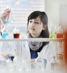 Free Young Woman In Lab Stock Photo - 14810760