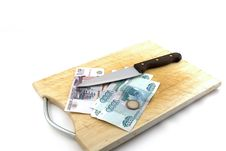 Free Money, Knife For A Board For Are Sharp Royalty Free Stock Photography - 14810947