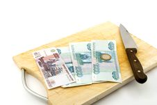 Free Money, Knife For A Board For Are Sharp Royalty Free Stock Image - 14810976