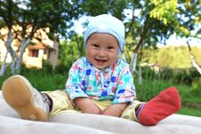 Free Baby In One Boot Outdoors Stock Photo - 14811200