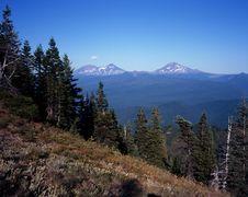 Free Three Sisters Horse Pasture Mountain, Summit Royalty Free Stock Photo - 14811405