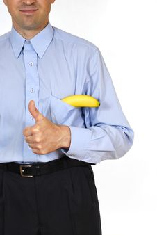 Free Man With The Banana Stock Photos - 14811623