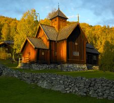 Free Church In Norway Royalty Free Stock Photo - 14812315