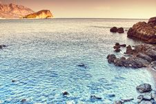 Free Blue Turquoise Sea, Mountains And Sky Stock Photography - 14813732