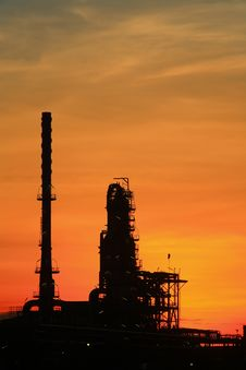 Free Oil Refinery At Twilight Thailand Stock Photography - 14813832