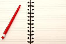 Free Paper Notebook Royalty Free Stock Photo - 14814045