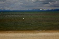 Lake Tahoe Beach, Nevada Royalty Free Stock Photos
