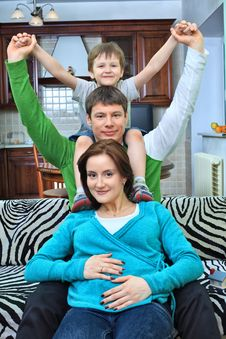 Free Cheerful Family Stock Photography - 14814862