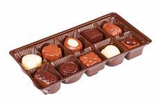 Free Box Of Assorted Chocolates Royalty Free Stock Image - 14815646