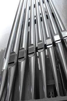 Free Modern Organ Pipes Close Royalty Free Stock Image - 14815896