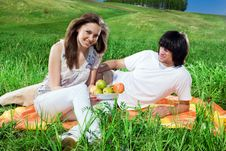Free Girl With Fruits And Boy Royalty Free Stock Photos - 14816108
