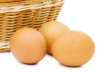 Free Eggs In A Basket Stock Photos - 14816683