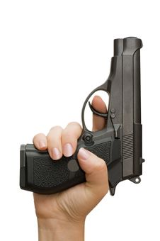 Free Pistol In A Female Hand Stock Photos - 14816823