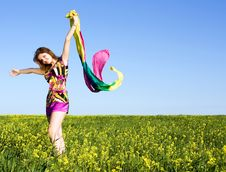Free Beautiful Young Girl On The Field Royalty Free Stock Photos - 14817028