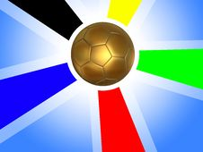Free Golden Soccer Ball Background Stock Images - 14817044